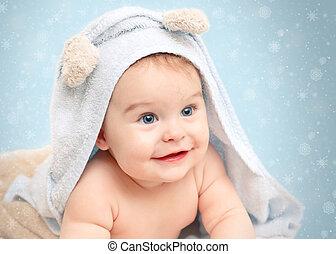 Sonriente bebé