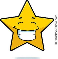 sonriente, estrella