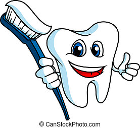 sonriente, tooth-brush, diente