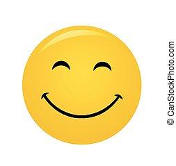 Sonrisa alegre moderna y amarilla