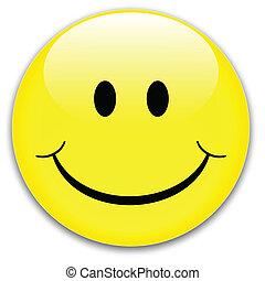 sonrisa, botón