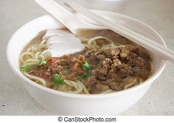 Sopa de fideos china