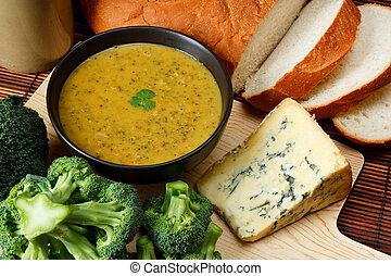 Sopa de Stilton y brócoli