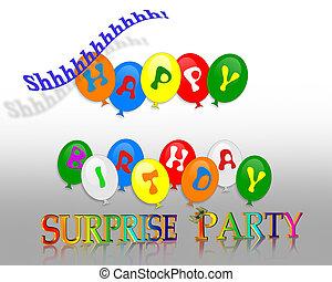 sorpresa, fiesta de cumpleaños