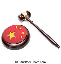 soundboard, nacional, -, él, juez, bandera, república, gente, martillo, china