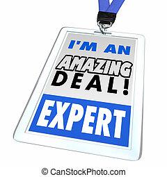 Soy una increíble vendedora experta en ventas de descuento insignia cazador 3d ilustración