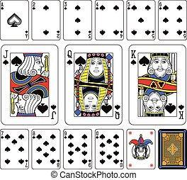 Spades suite jugando a las cartas