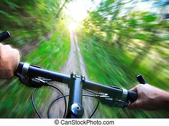 Speed en bicicleta de montaña