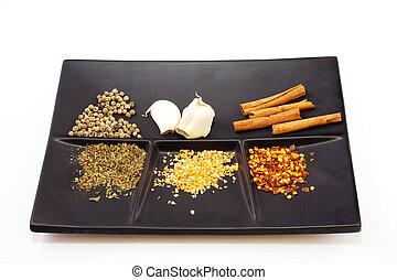 Spices en un platillo