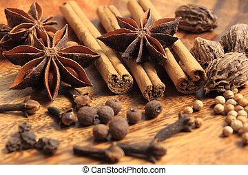 Spices marrones