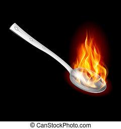 Spoon con fuego