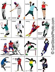sports., collection., algunos, clases