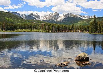 sprague, montañas, lago, rocoso