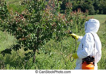 Spray de pesticidas