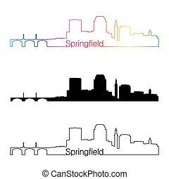 Springfield MA estilo lineal lineal lineal con arco iris