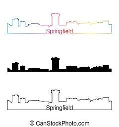 Springfield MO estilo lineal lineal con arco iris
