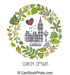 Spring.london Landmark. Green deja la corona, Big Ben