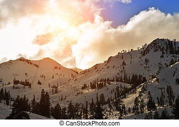 squaw, recurso, valle, esquí