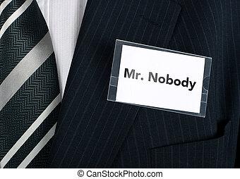 Sr. Nadie