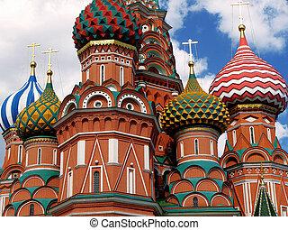 St. Basil Catedral en Moscú. Rusia