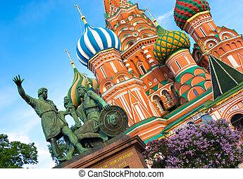 St. Basil Catedral en Moscú, Rusia.