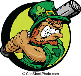 St. Patricks Day Leprechaun aguantando
