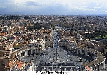 St. Peter es cuadrado en roma