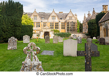 Stanway House y St Peters Church Stanton