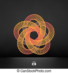 Star. Estructura de conexión. Vector 3D ilustración.