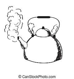 steam., ebullición, caldera
