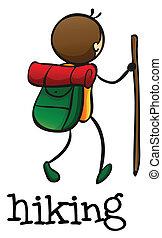 stickman, excursionismo