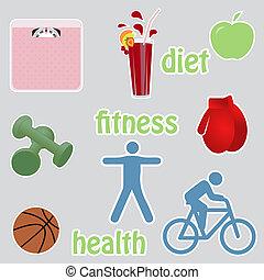 Stikers vivos saludables