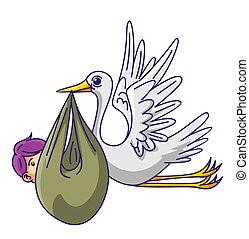 Stork con el bebé