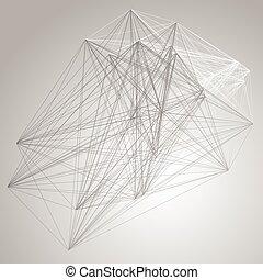 structure., resumen, grayscale, conexión, plano de fondo, tecnología