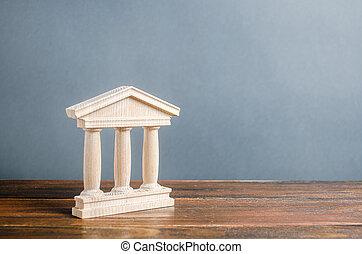 style., library., tribunal, educación, banca, government., antigüedad, estatuilla, town., universidad, administración, banco, parte, ciudad, monumento, arquitectónico, concepto viejo, pilares, edificio, o