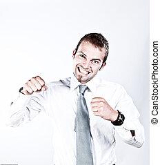 Su éxito y entusiasmo en los negocios