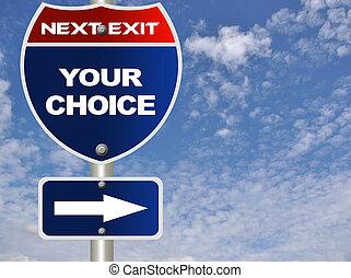 su, señal, opción, camino