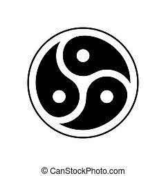 subcultura, emblema, isolated., símbolo, bdsm, logotipo, sexual