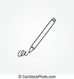 subscribir, ratify, simple, undersign, pluma, firma, icono