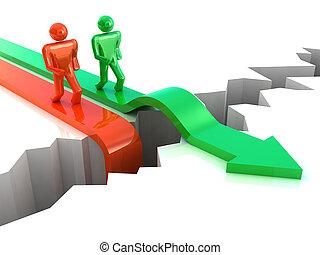 success., competición, concepto de la corporación mercantil