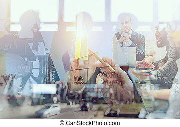 success., sociedad, gente, pen., empresa / negocio, trabajo, trabajo en equipo, juntos, dibujo, exposición, mancha, diagrama, doble, concepto