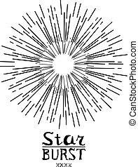 Sucio vector clásico de vector monocromo etiqueta o logotipo