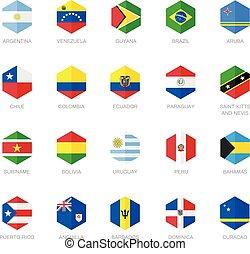 Sudamérica y la bandera caribeña