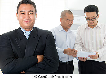 sudeste, hombres, negocio asiático