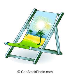 Sueño festivo de la silla de cubierta