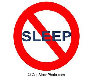 sueño, insomnio, o, no