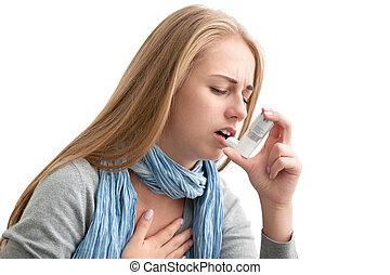 Sufriendo de asma
