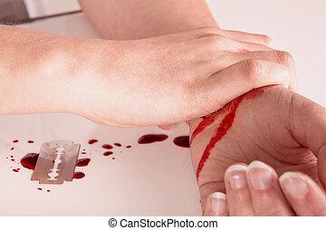 suicidio, sangre