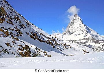 suiza, matterhorn, pico, alp
