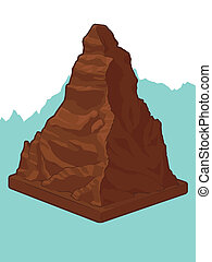 suizo, matterhorn, forma, chocolate